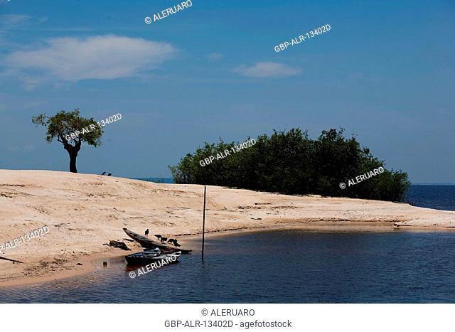 Landscape, Tupé Beach, Manaus, Amazônia, Amazonas, Brazil