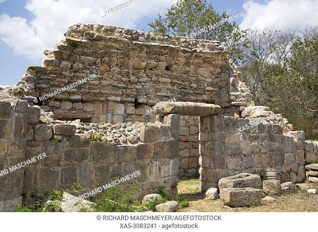 Mayan Ruins, Oxkintok Archaeological Zone, 300 -1,050 AD, Yucatan, Mexico
