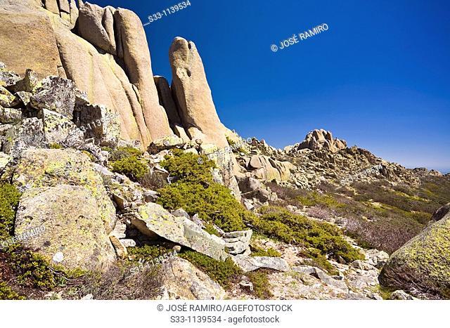 Cliffs of Ghosts in The Pedriza Regional Park Cuenca Alta del Manzanares Madrid Spain