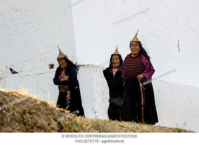 Layap women in Bhutan