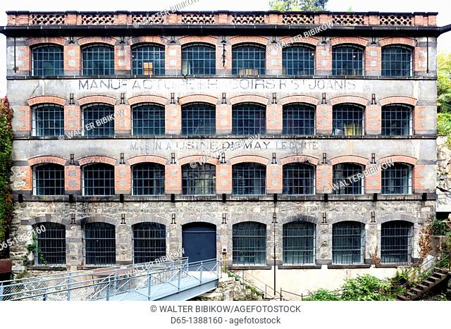 France, Puy-de-Dome Department, Auvergne Region, Thiers, cutlery capital of France, old manufacturing valley, factory