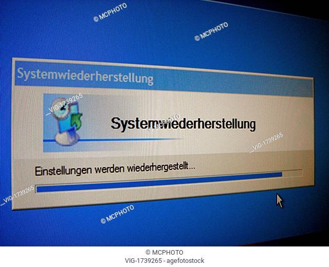 system rebuilding - 01/01/2009