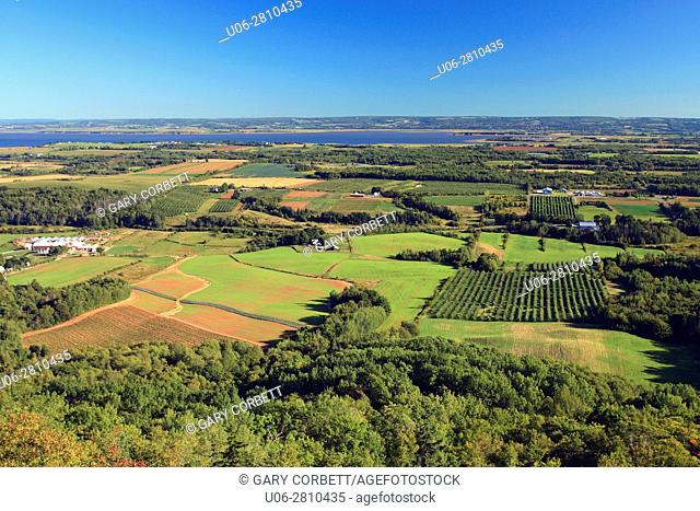 a view of the annapolis valley nova scotia from the lookoff