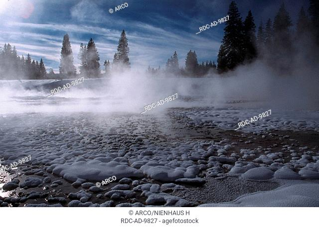 West Thumb Geyser Basin, Yellowstone Nationalpark, Wyoming, USA