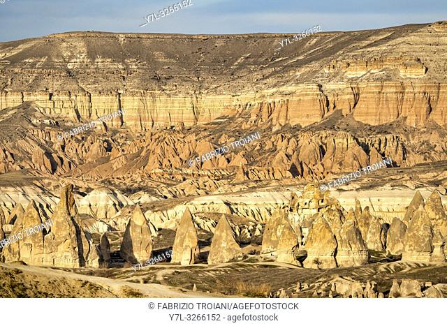 Mount Aktepe near Göreme and the Rock Sites of Cappadocia , Turkey