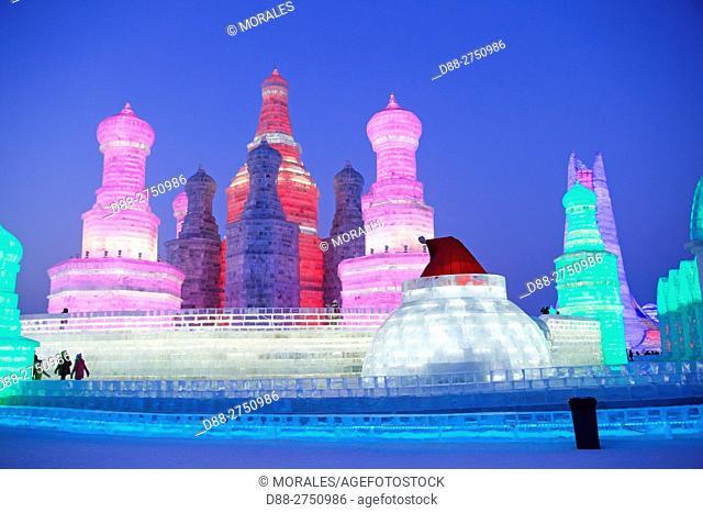 China, Manchuria, Heilongjiang, Harbin International Ice and Snow Sculpture Festival