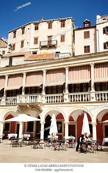 Plaza de la Catedral, Sibenik  Dalmacia, Croacia