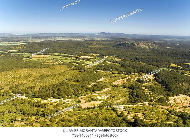 Spain, Balearic Islands, Mallorca, Views from the Santuario de Cura