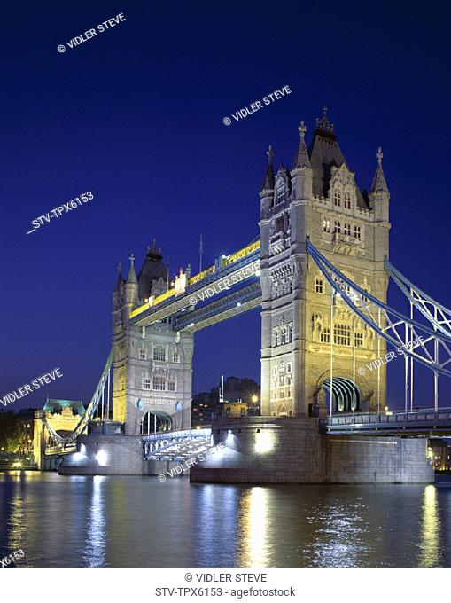 England, United Kingdom, Great Britain, Holiday, Landmark, London, Night, Thames river, Tourism, Tower bridge, Travel, Vacation