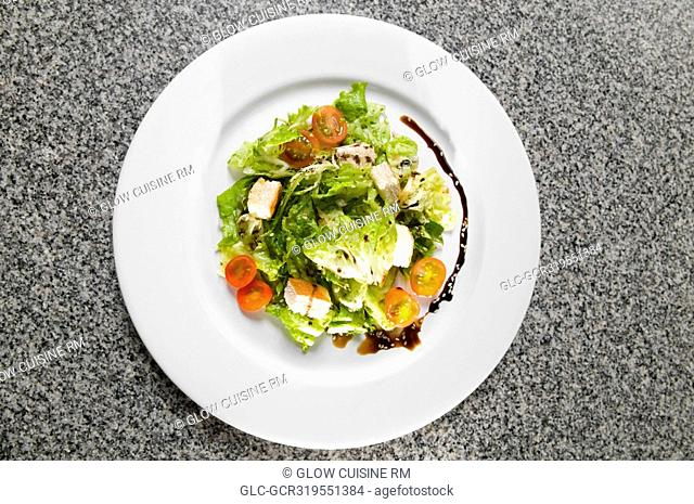 Close-up of a plate of vegetable salad