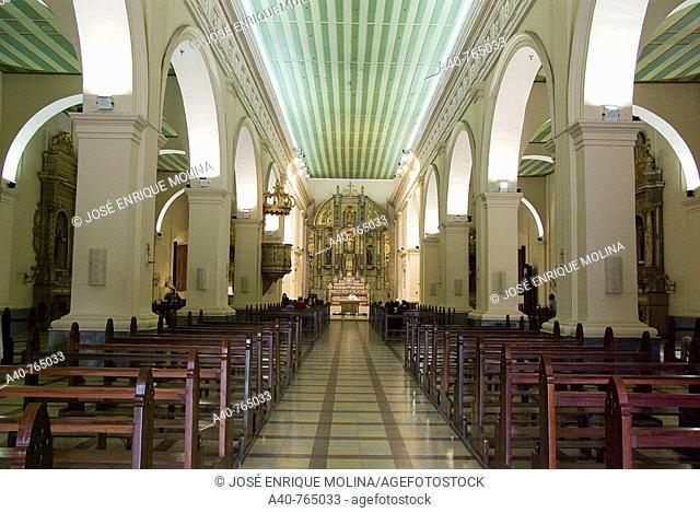 Paraguay.Asunción city. Metropolitan Cathedral of Our Lady of Asunción.Interior