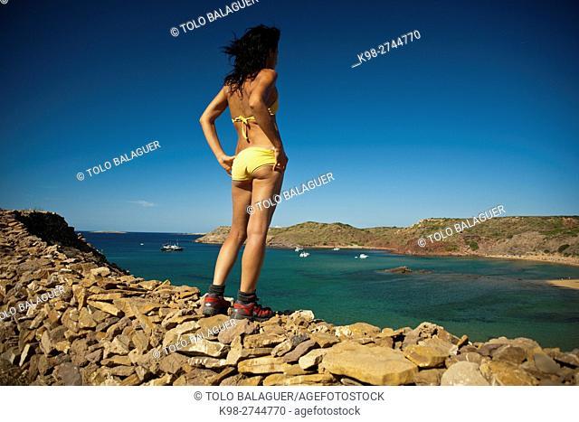 Playa de Ferragut. Menorca. Balearic Islands, Spain