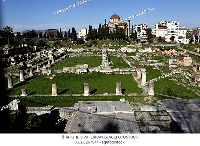 The Pompeion, between the Dipylon and the Sacred gate in Ancient Site of Kerameikos. Kerameikos is one of the most important but least visited archaeological...