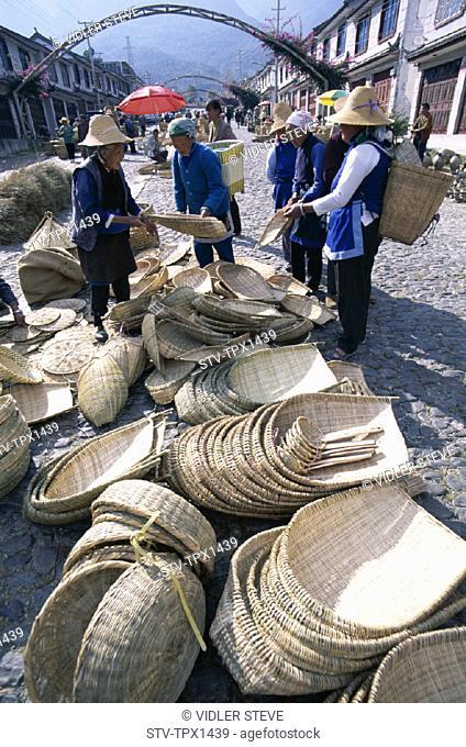 Asia, Buying, Cane, China, Dali, Handmade, Holiday, Landmark, Market, People, Products, Province, Tourism, Travel, Vacation, Yun