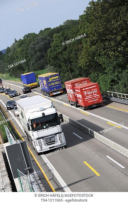Trucks in Highway Construction