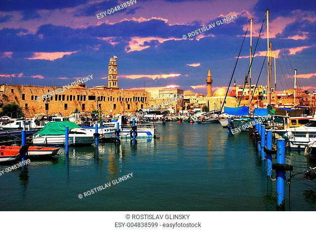 Old harbor. Acre, Israel