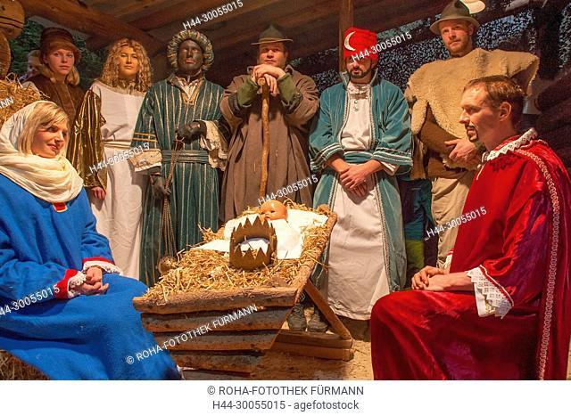 Bad Reichenhall, Deutschland, Bayern, Oberbayern, Berchtesgadener Land, Berchtesgaden, Weihnachten, Weihnacht, Christkind, Christkindlmarkt, Jesus, Jesukind