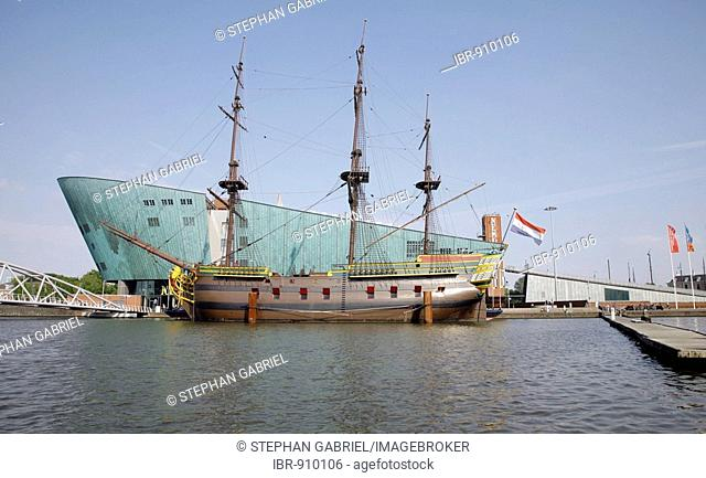 NEMO, largest science centre in the Netherlands in the shape of a ship, museum, Amsterdam, Netherlands, Europe