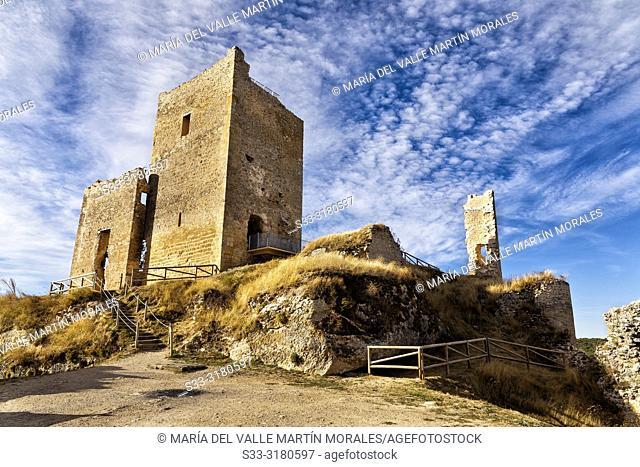 Ruins of Calatañazor castle. Soria. Castilla León. Spain. Europe