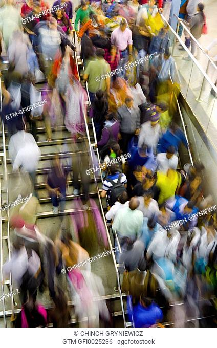 Colorful Urban Crowd in Motion