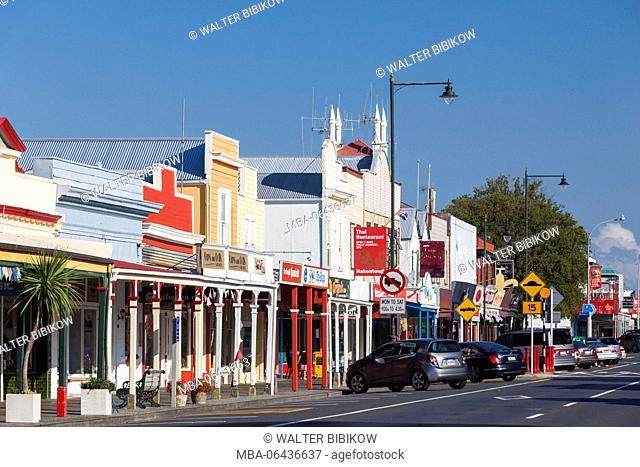 New Zealand, North Island, Coromandel Peninsula, Thames, Pollen Street