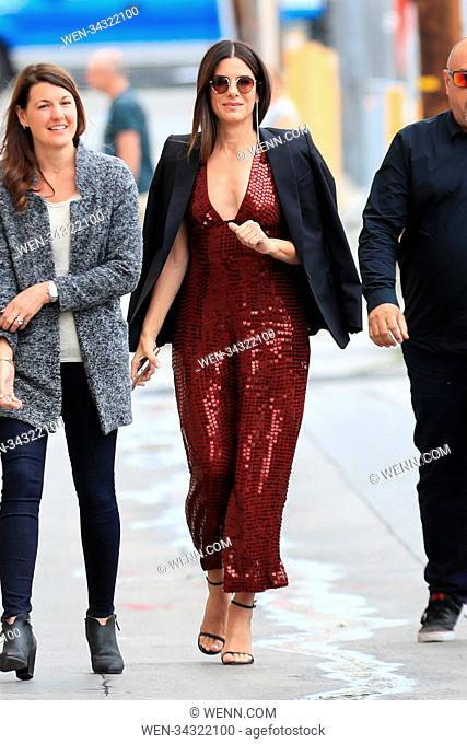 World famous actress Sandra Bullock was spotted Arriving At The Jimmy Kimmel Show In Hollywood, Los Angeles. Featuring: Sandra Bullock Where: Hollywood