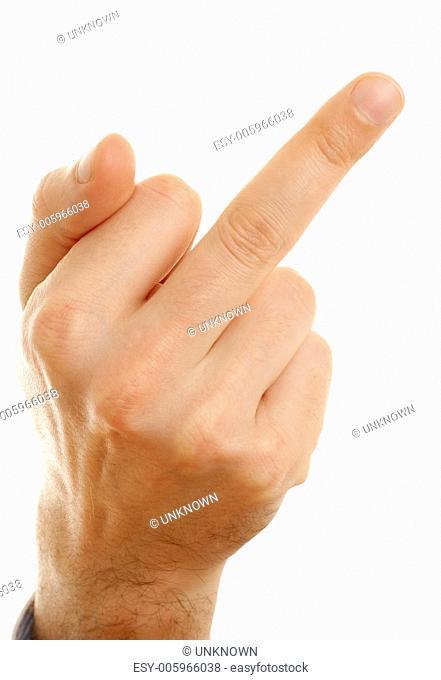 middle finger of arrogant man