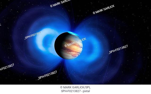 Jupiter's magnetosphere, illustration