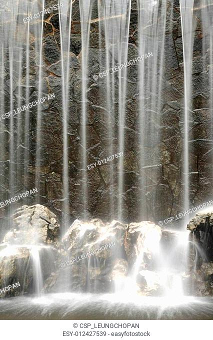 Artificial waterfall background