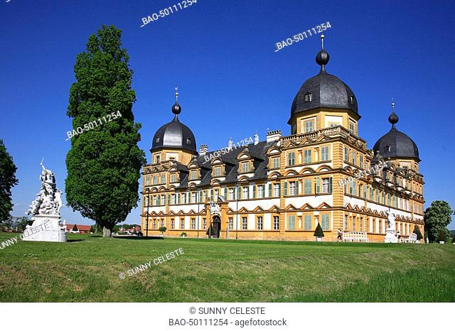 Palais of Seehof, Memmelsdorf, near Bamberg, Bavaria, Germany