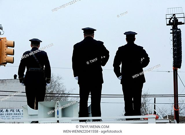 Funeral of NYPD officer Wenjin Liu in Manhattan Where: New York City, New York, United States When: 04 Jan 2015 Credit: TNYF/WENN.com
