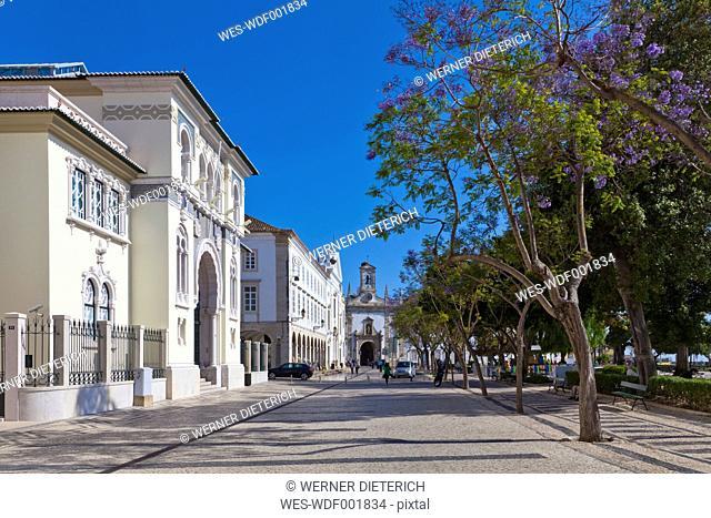Portugal, Faro, View of Arco da Vila building