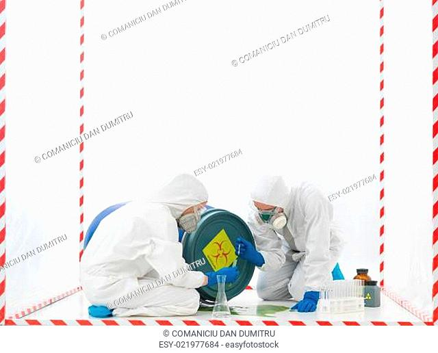 taking samples bihazard accident