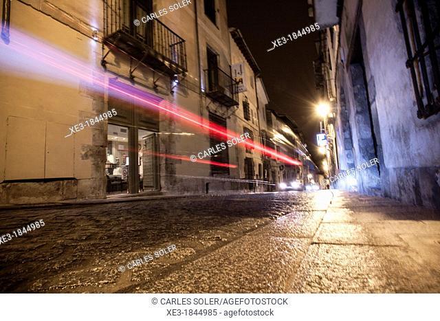 Light trails, Cuenca, Castile-La Mancha, Spain