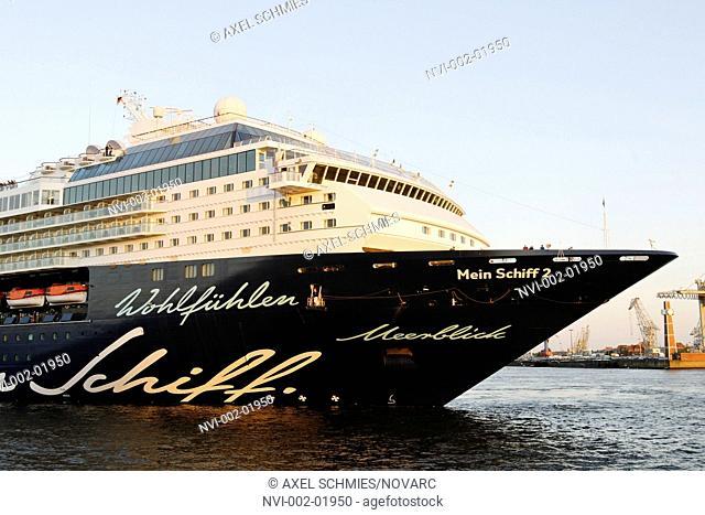 Cruise ship, Mein Schiff 2, in the port of Hamburg, Hamburg, Germany, Europe