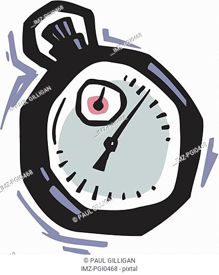 A cartoon drawing of a timer