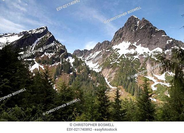 High alpine ridge North Cascade Range North America