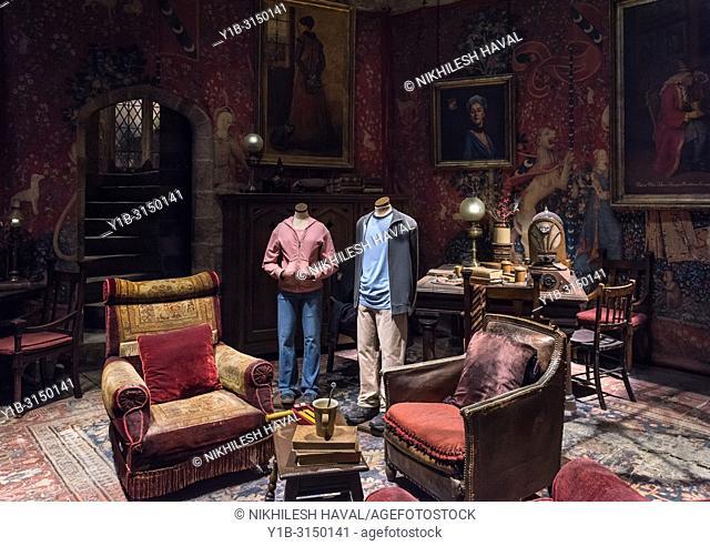 Gryffindor Common Room, Making of Harry Potter, Warner Bros. Studio Tour, Leavesden, London