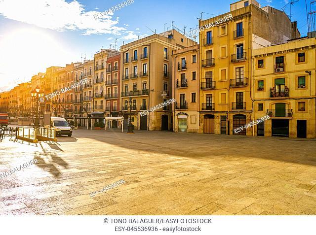 Tarragona Plaza Font square near ayuntamiento in Catalonia