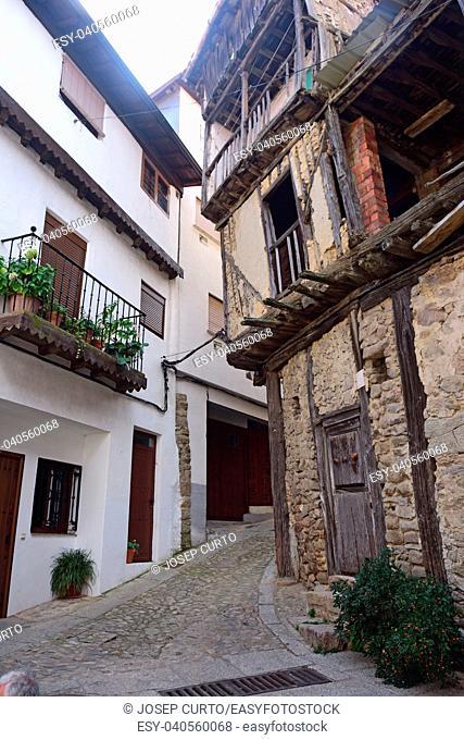 streets of Mogarraz, Sierra de Francia Nature Reserve; Salamanca province; Castilla Leon; Spain