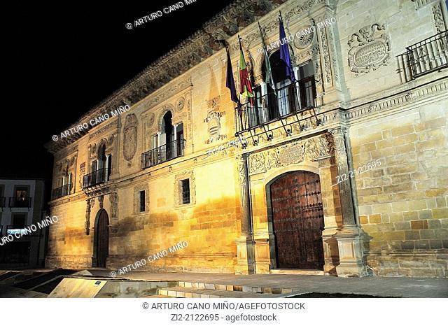 City Hall, plateresque façade. Baeza, Jaen, Spain