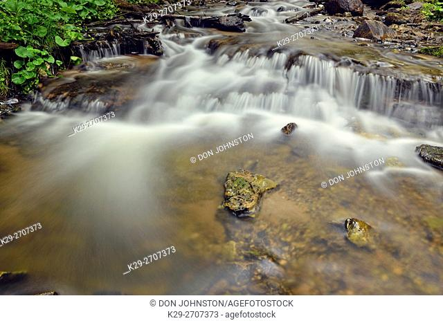 Wagner Falls, Wagner Falls Scenic Site, Alger County, Michigan, USA