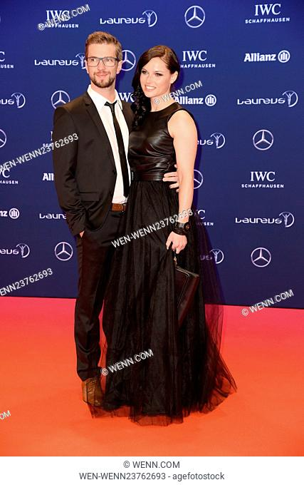 Laureus World Sports Awards 2016 at Messehalle (fair hall) - red carpet Featuring: Manuel Veith, Anna Fenninger Where: Berlin