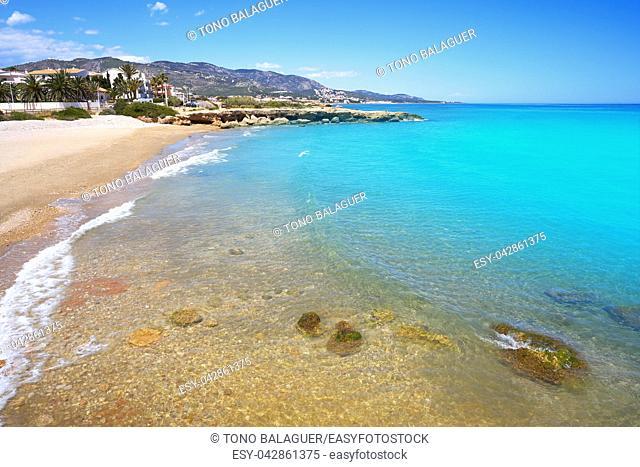 Playa del Moro beach in Alcossebre also Alcoceber in Castellon of Spain