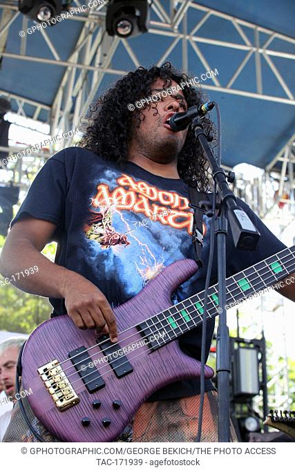 skyler Acord Bass player for Issues performs at Inkcarceration 2019