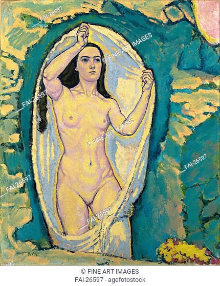 Venus in the Grotto. Moser, Koloman (1868-1918). Oil on canvas. Art Nouveau. c. 1914. Austria. Leopold Museum, Vienna. 75,5x62,7