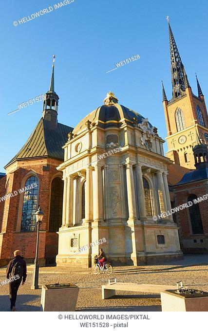 Riddarholmskyrkan on Riddarholmen island, Stockholm, Sweden, Scandinavia