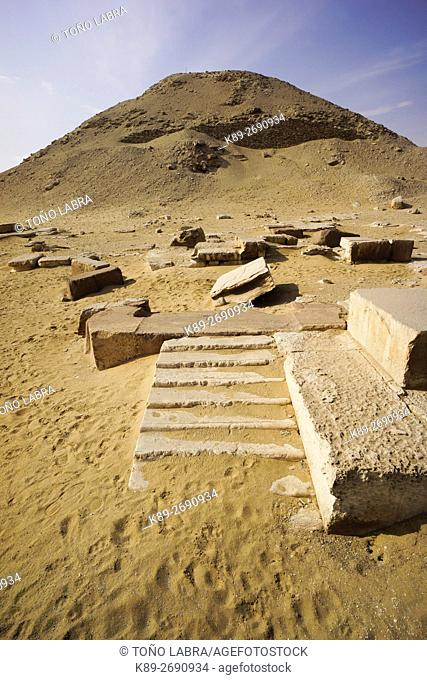 Teti Pyramid. Archeological remains. Saqqara necropolis. Egypt