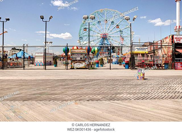 USA, New York, People on Coney Island