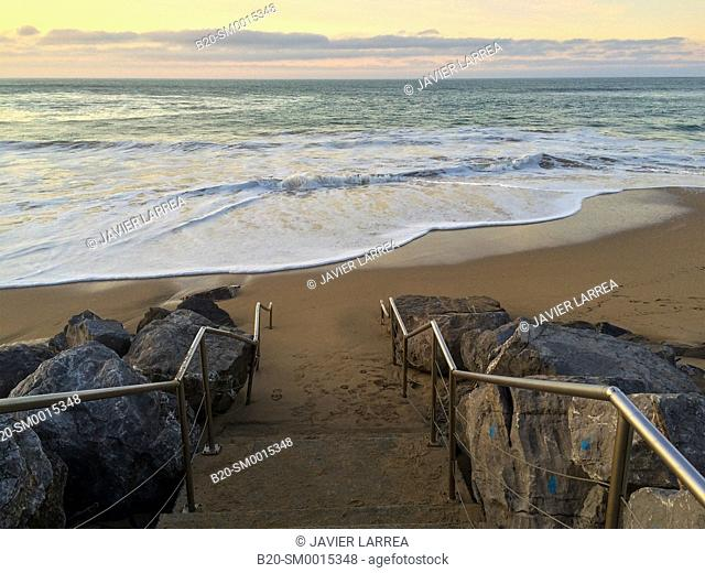 Beach. Hendaye. Aquitaine. Pyrenees Atlantiques. France